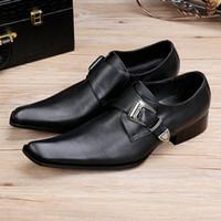 el boyama elbisesi toptan satış-Yeni Lüks İtalyan El Boyalı Iş Elbise Ayakkabı kare ayak iş rahat ayakkabılar Siyah Hakiki Flats kuaför ayakkabı Z149