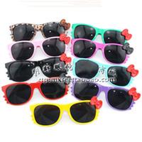882b13d4b Hot sale high quality hello kitty sunglasses Fashion KT Girls sunglasses  Lady Women KT Cat sunglasses With Bow KT GLASSES UV400