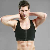 ingrosso reggiseno brace-Mens Bra Gynecomastia Chest Body Shaper Vest per Man Boobs Moobs e Flatten Brace Support Black White Ganci Top di controllo
