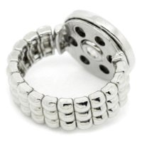 Wholesale Pressed Beads - 2015 New 3x2PCs Adjustable Base Rings Fit Snap Press Buttons Silver Tone size 9.5 button bead