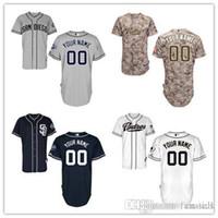 Wholesale Cheap White Dress Xxl - 2016 New San Diego Padres Personalized Baseball Jersey 2016 Custom Men Women Embroidery Stitched Shirt Cheap Sports Dress Free shipping