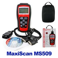 Wholesale Maxiscan Bmw - MS509 MaxiScan code OBD 2 scanner latest version high quality ms509 Code Reader Autel MS 509 Car Diagnostic Tool