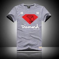 Wholesale diamond supply shirts free shipping - s-5xl Diamond Supply Co T Shirts Men Short Sleeve Man Top Mens Tee Shirt Free Shipping