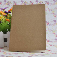 Wholesale cover account - Brown kraft cover stitching notepad school exercise soft daily notebook with line for students and kids use