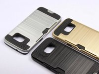 Wholesale Neo Hybrid For S4 - Brushed Case Neo Hybrid Armor Silicone+PC Back Covers Cases for Samsung Galaxy S4 S5 With Card Holder,Free Shipping