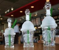 Wholesale Mini Glass Cups - 10mm Starbuck Cup Glass bong! Glass Oil Rigs Mini Glass water Pipes hookahs cheap price
