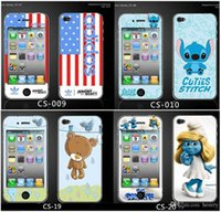 sticker phone full body 2018 - 500pcs a bag for iphone4 color membranes body stickers with flash diamond cartoon phone protective membranes