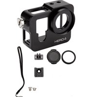 Wholesale Hotshoe Adapter - For go pro accessories CNC Aluminum Alloy Skeleton Rugged Cage Protective Housing Case for GoPro Hero 4 + Heat-sink HotShoe Adapter