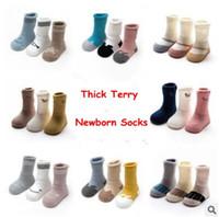 Wholesale Cheap Warm Socks - Newborn Socks Set Winter Cartoon Cotton Warm Thick Baby Socks Unisex Animal Design Boys Girls Ankle Socks Korea Cheap Sock 3 Pair Pack