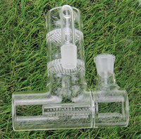 ingrosso nocciolo di prelievo di cenere-Grandi dimensioni collettore della cenere di vetro per i tubi di acqua di vetro Reclaim Ash Catcher Lacunaris Inline due favi ashcatcher in 14 mm o 18 millimetri