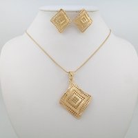 Wholesale Newest Earrings Style - 2016 Newest Women Jewelry Sets Necklace 18k Gold Pendant Necklace Style Temperament Elegant Of Types Jewelry Sets