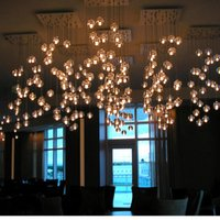 Wholesale Dining Room Crystal Chandelier - IN stock G4 LED brand Crystal Glass Ball round Pendant Lamp Meteor Rain Ceiling bulbs Meteoric Shower Stair Droplight Chandeliers Lighting