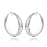 grande cobra venda por atacado-Tomada de fábrica 925 Sterling Silver grande Snake Pattern Oval Hoop Earrings