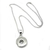 noosa perlen schnappen großhandel-noosa halskette Charme Druckknopf Silber Anhänger Halsketten 69 cm perlenkette frauen schmuck