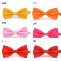 Wholesale Men Adjustable Bowties - Hot sale High Quality Fashion Accessories Men and Women Bow Ties Neckwear Bowties Wedding Adjustable Bow Tie