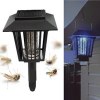 Wholesale New Outdoor Yard Garden Lawn LED Solar Powered Mosquitoes Insect Pest Bug Killer Repellent Lamp Light