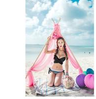 Wholesale Secret Beach Swimsuit - 2015 Newest Summer 3 Size Summer Sexy Bikini Women Swimwear Fashion Occidental Secret Beach Swimsuit 7 Colors 70SET B19