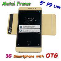 "Wholesale P9 Quad Core - P9 Lite 5"" QHD Android 5.1 MTK6580 Quad Core Smartphone 3GWCDMA Unlocked Dual SIM 960*540 OTG Metal Frame Smart- wake Mobile Phone"
