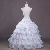 Wholesale High Quality Quinceanera Dresses - 2017 New High Quality Bridal Petticoat White Ruffles Crinoline Underskirt Wedding Dress Hoop Skirt Crinoline For Quinceanera Dress Cheap