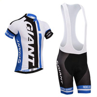 Wholesale Giant Skinsuit - New 2016 bule giant Team Cycling Jerseys Quick Dry Bike Wear cycling jersey Short sleeve cycling tights + bib pants cycling skinsuit