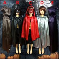 erkek kostümleri toptan satış-2016 Çocuk Erkek Kız Cloak Robe Cape Kapşonlu Çobanlar Cadılar Bayramı Fantezi Elbise Kostüm Ücretsiz Kargo