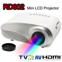 Wholesale Vga Designs - New Mini LED LCD Projector 1080P HD Projectors RD802 Luxury Design Multi-Media Player HDMI   VGA   USB  SD   AV Portable Home Theater Cinema