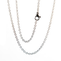 "Wholesale Stainless Chain Prices - 10pcs super lowest price Silver Stainless Steel 20"" 2.3mm necklace Chains for living glass lockets & oil Diffuser Locket"