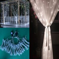 Wholesale Used Christmas Decorations - 6*3M Holiday decoration LED christmas lights LED curtain LED strip Christmas light Indoor outdoor using strip