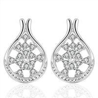 collar de flores blancas para la boda al por mayor-collar de la joyería de la plata esterlina de la forma de la flor de la boda Collar para las mujeres DN390, pendientes de plata populares de la piedra preciosa 925