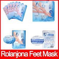 Wholesale Foot Odor - ROLANJONA feet mask Milk and Bamboo Vinegar Peeling Feet Mask Remove dead skin Reduce odor free shipping