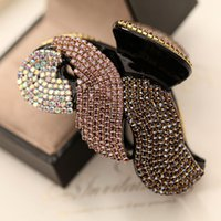 Wholesale Diamond Hair Clip Claws - Hot Best Clamps Luxury New Hair Jewerly full Diamond Swarovski 40% Discount Hair Clips Claws Crystal Rhinestone Korean Clips Free DHL SF