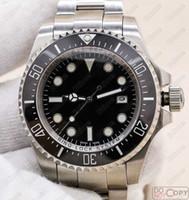 relojes de lujo aaa al por mayor-Lujo SEA-DWELLER 44mm Reloj para hombre Movimiento automático Barrido Marca Mecánico Cerámica Bisel Cristal de zafiro Corchete original Calidad AAA