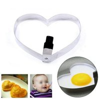 Wholesale 2016 New Arrival Heart Shape Cook Fried Egg Food Mold Pancake Baking Stainless Steel