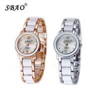 Wholesale Sbao Watches - Watch lady fashion china lady crystal fashion wrist watch SBAO brand for wemen Casual Quartz Wristwatch