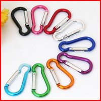 Wholesale Snaps Machine - mini Carabiner Ring Keyrings Key Chains Sport Carabiner Camp Snap Clip Hook Keychain Hiking Aluminum Convenient Hiking Camping Clip 250081