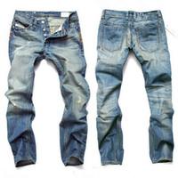 jeans de mode décontractée garçon achat en gros de-jeans mode hommes lumière jeans pour homme jeans occasionnels de cow-boy droits pantalon pour la taille de l'homme mâle 28-42
