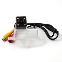 mitsubishi ters kamerası toptan satış-Mitsubishi Lancer için HD CCD Araç Arka Görüş Kamerası araba Ters Park Kamera Reversing Yedekleme Kamera Gece Görüş Su Geçirmez KF-V1214
