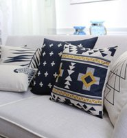 case decore - Geometric modern square throw pillow almofadas case boy x45 x53 x60 nordic blcak cushion cover home decore