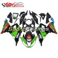 Wholesale Zx6r White Red - White Green Red Injection Fairings For Kawasaki Ninja 636 ZX6R ZX-6R Year 13 14 2013 2014 Sportbike ABS Motorcycle Full Fairing Kit