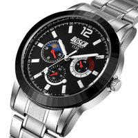 Wholesale Luxur Watches - Luxur Dial Waterproof Steel Man Sport Watches Three Six Pin Calender Gift Watch Fashion Luxury Dress Watch for Man Casual Wrist Watch