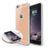 Wholesale Case Adapter - 2018 QI Wireless Charger Receiver Case For iPhone 7 6S 6 Plus Universal Adapter 5V 1A Wireless Charging Case with package