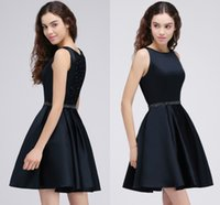 Wholesale Sexy Hot Mini Dress - 2018 Hot Selling Dark Navy Crystals Homecoming Dresses Mini Short Sparkling Beaded Cocktail Party Wear Graduation Dresses CPS688