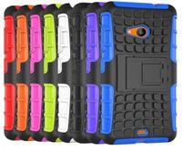 ingrosso casi per lumia-Per Nokia Lumia 535 Heavy Duty Defender Case Impact Hybrid Armor Hard Cover Per Microsoft NOKIA Custodie per telefoni Lumia 535 1090 1089