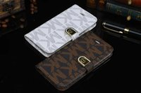 Wholesale Diamond Case For Galaxy S4 - Luxury Diamond Buckle Flip PU Leather Wallet Case With Card Slots For iPhone 5 SE 6 6S Plus Samsung Galaxy S7 S6 Edge S5 S4 Note 3 4 Note5