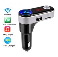 Kit Transmetteur FM mains libres Bluetooth MP3 Musique Radio Player Adaptateur BC09B Dual USB Car Charger support carte TF