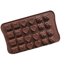 Wholesale Toy Cake Molds - Candy Molds & Ice Cube Trays- Rose, Heart & Gift-Silicone Chocolate Molds - Fun, Toy Kids Set Free Shipping