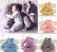 premier oreiller achat en gros de-Plus gros 60cm Enfant Soft Appease Elephant Playmate Calm Doll Bébé Jouets Elephant Pillow Peluches Jouets Farcies Doll Girl Friend Gift first