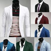 Wholesale Shiny Black Jackets For Men - Plus Size Mens Blazers Coats Suit Jackets Personalize Slim Fit Long Sleeve Men Single Breasted Nightclub Shiny Suit Blazer For Men J160205
