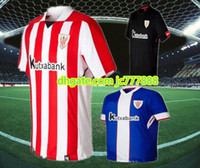 Wholesale Men S Athletic - 2017 2018 Athletic Bilbao Home Soccer jersey 17 18 SUSAETA GURPEGUI MUNIAIN away third football jerseys shirt Best thai quality