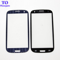 Wholesale galaxy s3 covers - 50pcs Front Outer Cover Glass Lens Replacement Screen For Samsung Galaxy s3 s4 s5 s6 s7